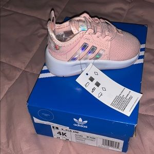 Pink adidas toddler sneakers, brand new!